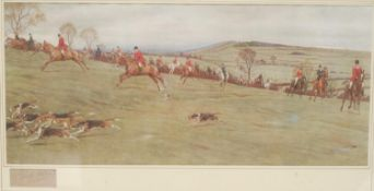 Cecil Aldin, by and after, a pair, The Meynell, coloured print, signed in pencil, 30cm, x 69cm