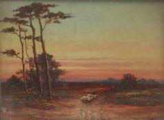 Arthur Harding Norwood (exhibited 1889-1893) A Peaceful Evening, St Winifred, Sevenoaks signed,
