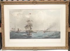 Carter, by, The Port of Liverpool, coloured engraving, 54cm x 62cm