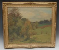 Alfred Hierl (German, mid 20th century) Summer's Day, Ronsdorf, Rheinland signed, oil on board, 53cm