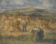 E**Henson (early 20th century) Corn Field signed, oil on canvas, 40cm x 50cm