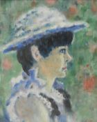 B**Carter (20th century) Impressionist Portrait, of a Young Lady wearing a Bonnet signed, oil on