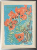 David Koster, by and after, Poppies, signed in pencil, coloured print, limited edition 30/50