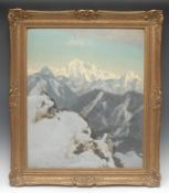 Alfred Hierl (German, mid 20th century) The Bavarian Alps signed, oil on board, 59cm x 48cm