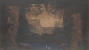 Alosta Moro Abstract Landscape signed, mixed medium, 47cm x 83cm
