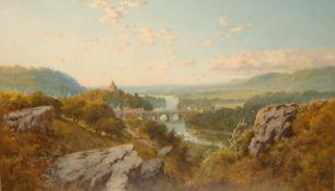 Edward John Niemann (1813-1876) Darley Dale Bridge on the Derwent signed, titled, oil on canvas,