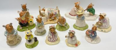 Bramley Hedge models - The Ice Ball, ltd edition, 214/3000, Happy Birthday Wilfred, Basil, Lord