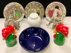 A Royal Doulton seris ware plate, The Mayor, others; Decorative items, Henry and Harriet