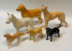Beswick Dog Models - Champion Jovial Roger; English Bull Terrier; labradors etc. (6)