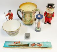 Royal commemoratives - a Royal Doulton George VI and Queen Elizabeth loving cup, 1937 Coronation