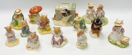 Bramley Hedge models - Thr Bride & Groom; Wilfred and the Toy Chest; In The Woods; Youre Safe; Dusty