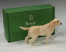 A Royal Doulton model of a Golden Labrador, boxed