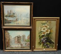 Pictures & Prints - T. Samson, Notre Dame, signed, oil on canvas, 40cm x 49.5cm; Bernard,