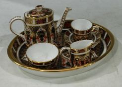 Royal Crown Derby 1128 Imari pattern miniature tea service on tray (second quality)
