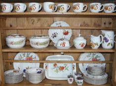 A Royal Worcester Evesham pattern Oven to Table Ware dinner and tea service, for eight, comprising