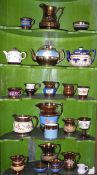 English Pottery - copper lustre, jugs, teapots, goblets, etc, 1850 and later