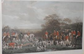 Frederick Bromley, by, Francis Grant, after, Sir Richard Sutton and the Quorn Hounds, coloured