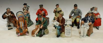 A Royal Doulton figure The Judge HN2443; others, The Huntsman HN2492, Stop Press HN2683, Taking