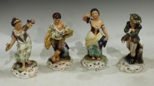 A set of four Royal Crown Derby figures, The Seasons, the tallest 25cm, printed marks, each signed