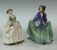 A Royal Doulton Sweet Anne figure, HN1318, printed and painted marks to base (faults); Royal Doulton