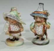 A pair of Royal Crown Derby Mansion House Dwarves, tall hat Theatre Royal Hay-Market ... , short hat