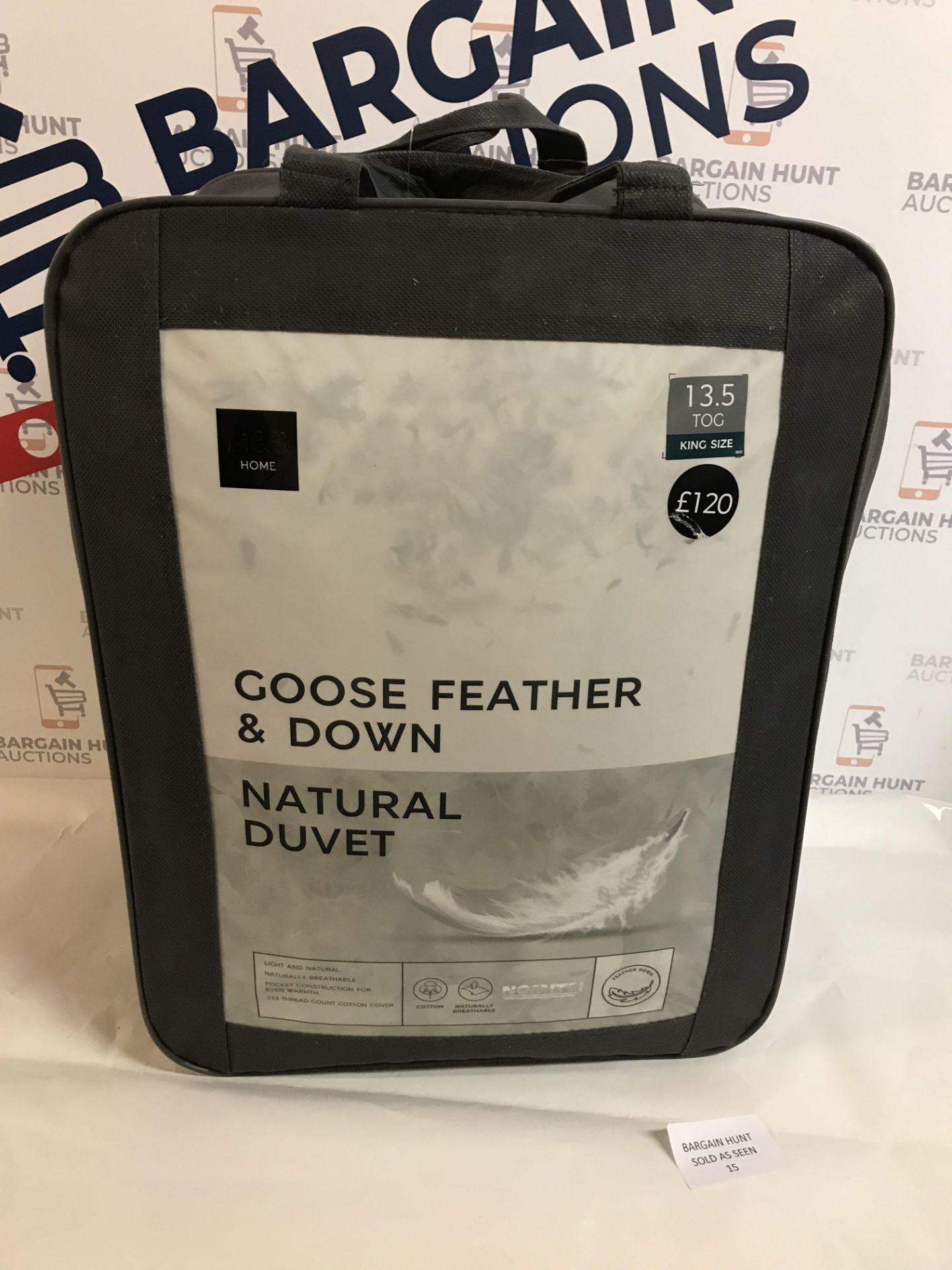 Lot 15 - Goose Feather & Down Natural 13.5 Tog Duvet, King Size