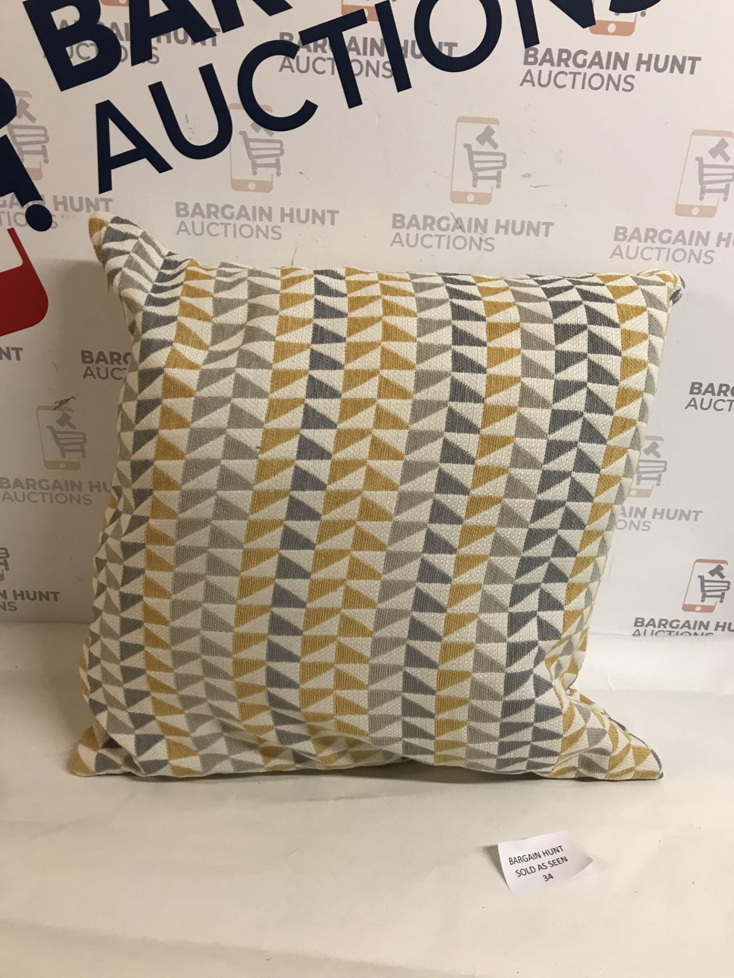 Lot 34 - Triangle Chenille Cushion