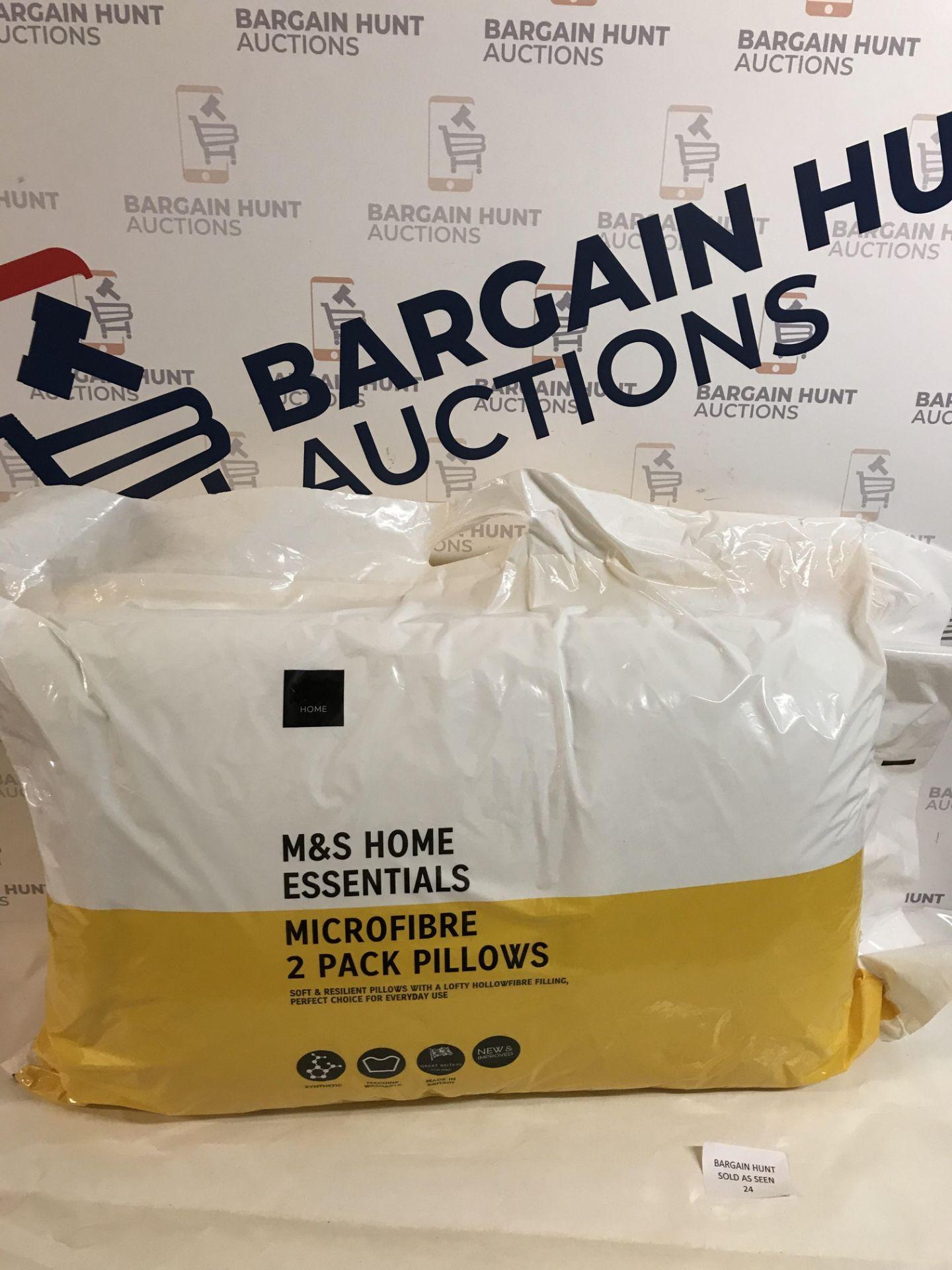 Lot 24 - Microfibre 2 Pack Pillows