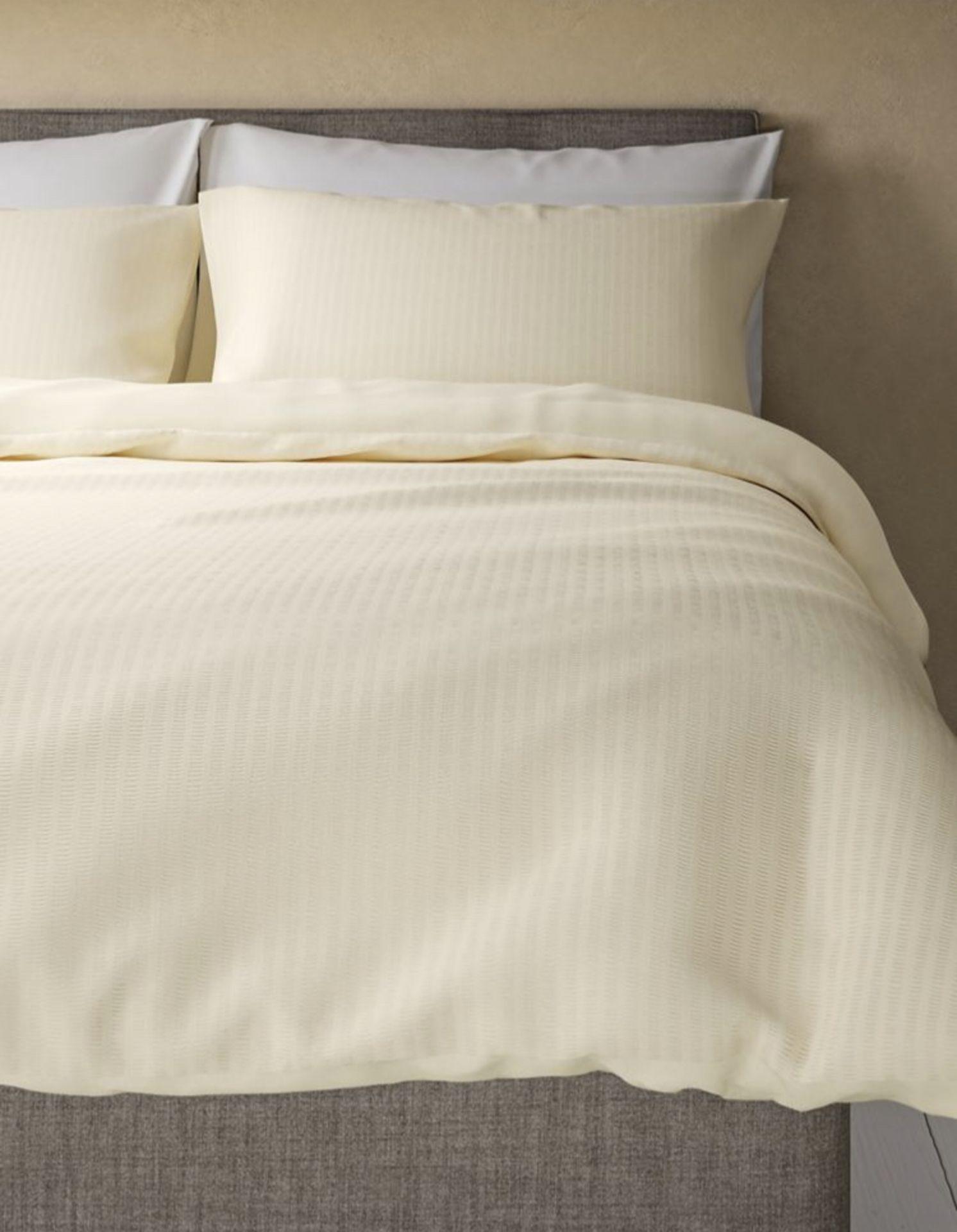 Lot 57 - Cotton Rich Seersucker Bedding Set, King Size