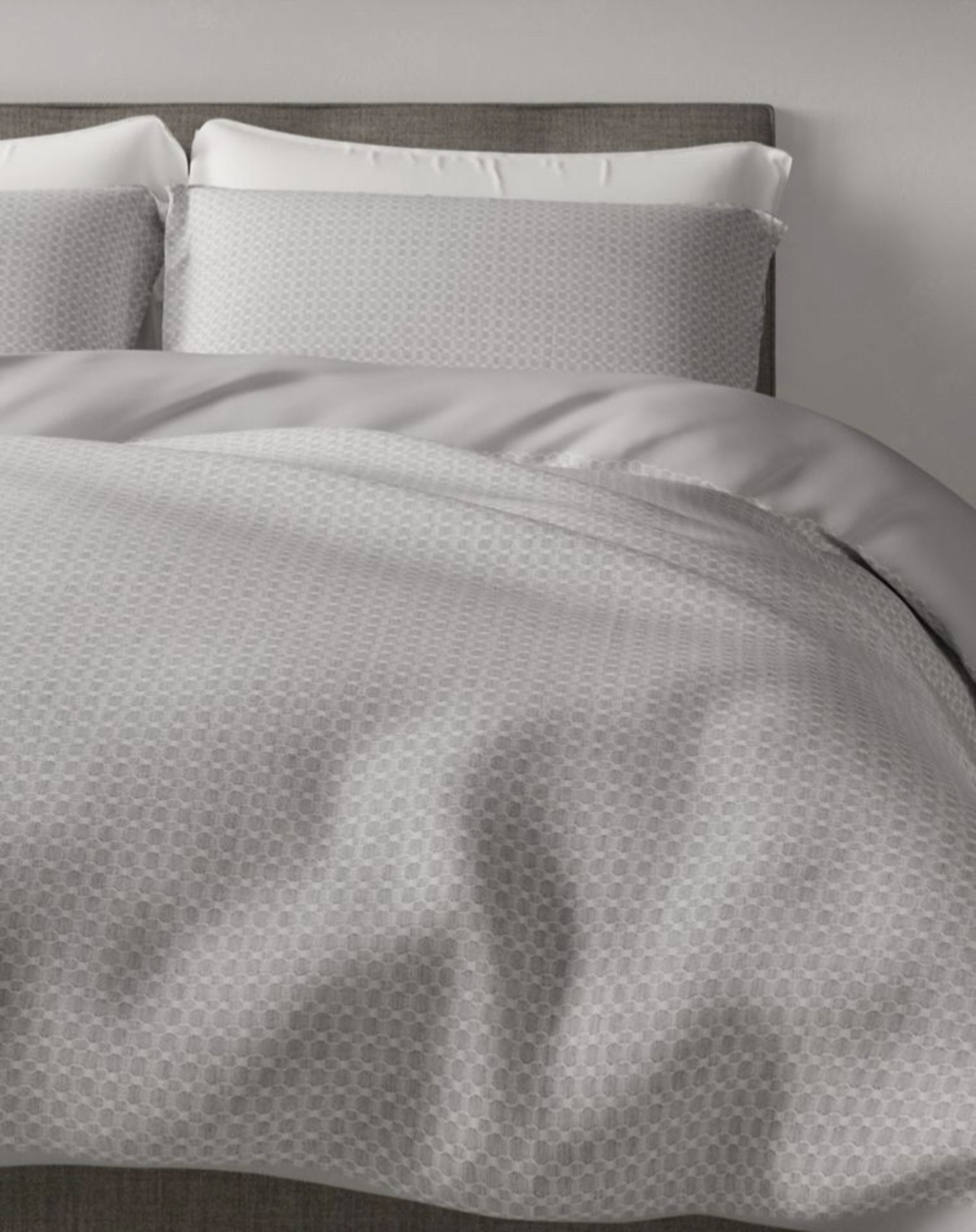 Lot 49 - Pure Cotton Textured Waffle Bedding Set, Super King