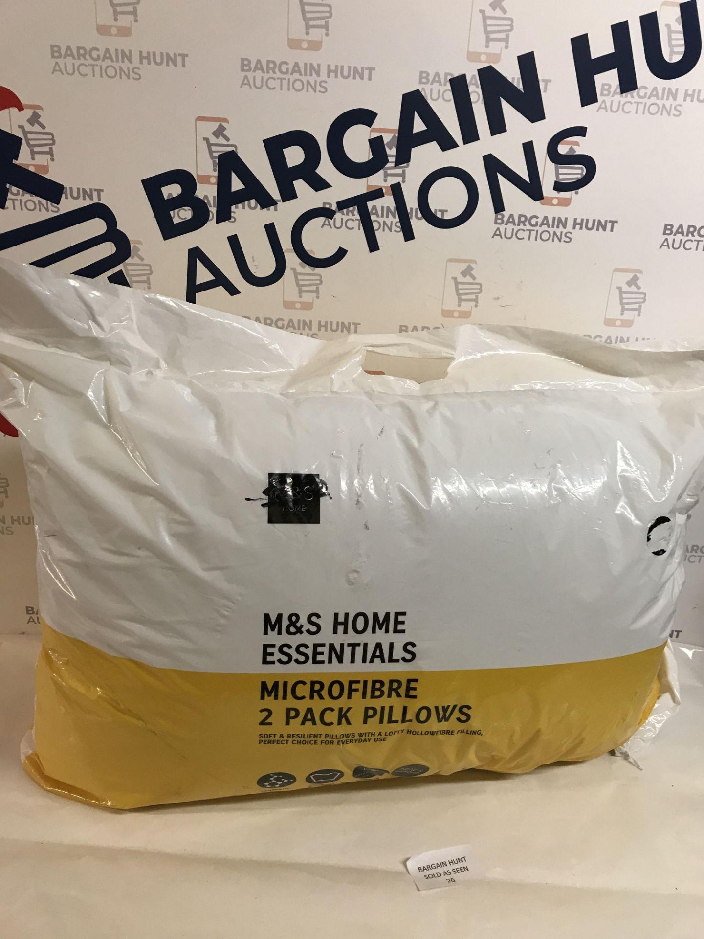 Lot 26 - Microfibre 2 Pack Pillows