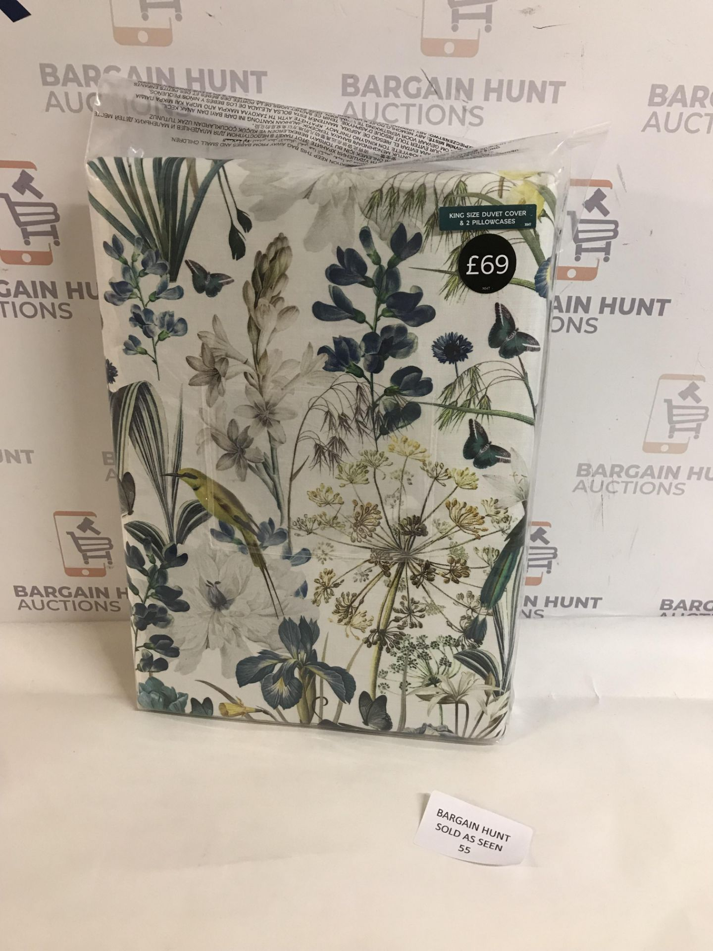 Lot 55 - Pure Cotton Sateen Harriet Printed Bedding Set, King Size