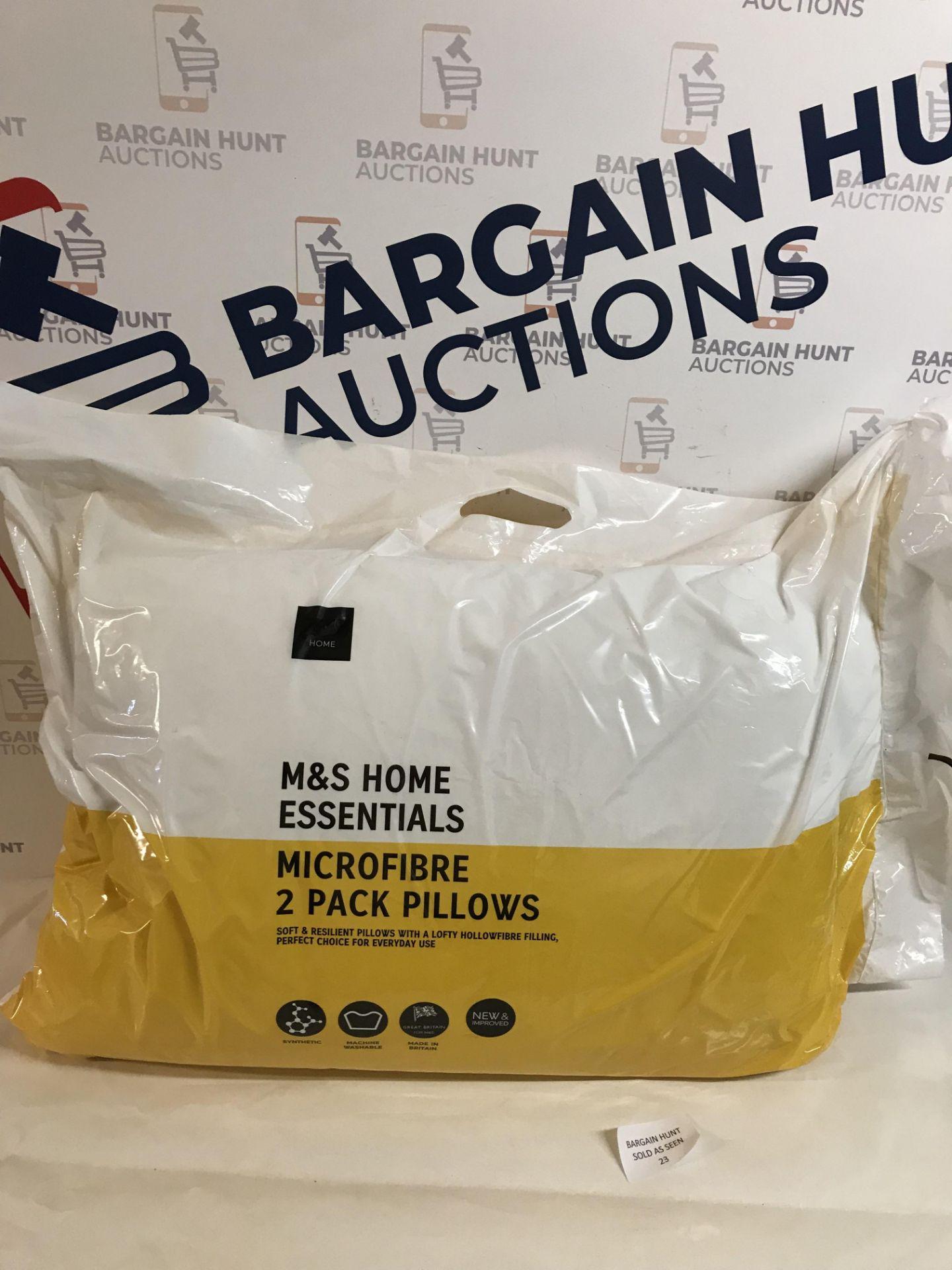 Lot 23 - Microfibre 2 Pack Pillows