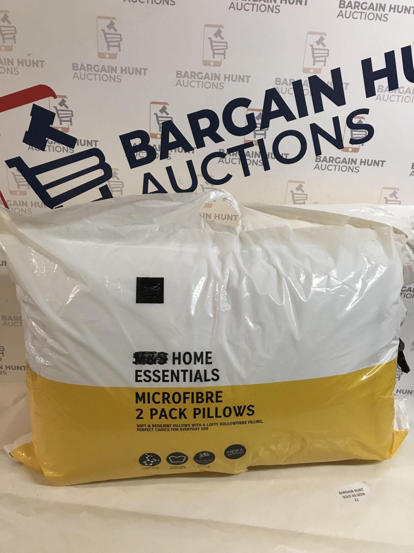 Lot 22 - Microfibre 2 Pack Pillows