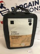 Cosy & Light Synthetic 4.5 Tog Duvet, Double