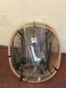 Loft Set of 2 Lois Garden Chairs (damaged string on 1 chair, see image) RRP £119