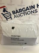 Microfibre Synthetic 2 Pack Pillows