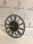 Metal Skeleton Matle Clock
