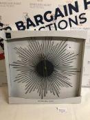 Sputnik Metal Wall Clock RRP £35