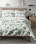 Cotton Mix Palm Bedding Set, King Size
