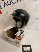 Bern Women's Lenox Snow Helmet, Satijn Black, Small