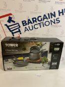 Tower Forged Aluminium 5 Piece Pan Set RRP £56.99