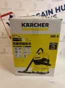 Karcher WD4 Wet & Dry Vacuum Cleaner (for box contents, see image) RRP £99.99
