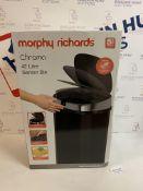 Morphy Richards Chroma Square Sensor Bin with Infrared Technology, Black, 42 Litre RRP £50