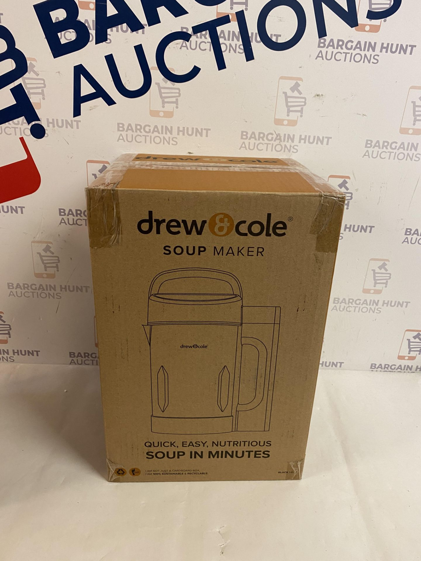   1x   Drew&Cole Soup Maker 1.6L - Black   Refurbished   No Online Resale   SKU 5060541516885  