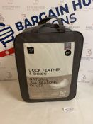 Duck Feather & Down Natural All Season 12.5 Tog Duvet, Single RRP £59