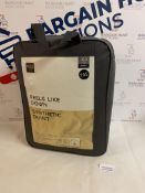 Feels Like Down Synthetic 10.5 Tog Duvet, Double RRP £65