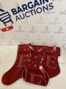 Set of 4 Alphabet Stockings RRP £12.50 Each