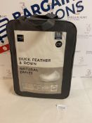 Duck Feather & Down Natural 4.5 Tog Duvet, Double