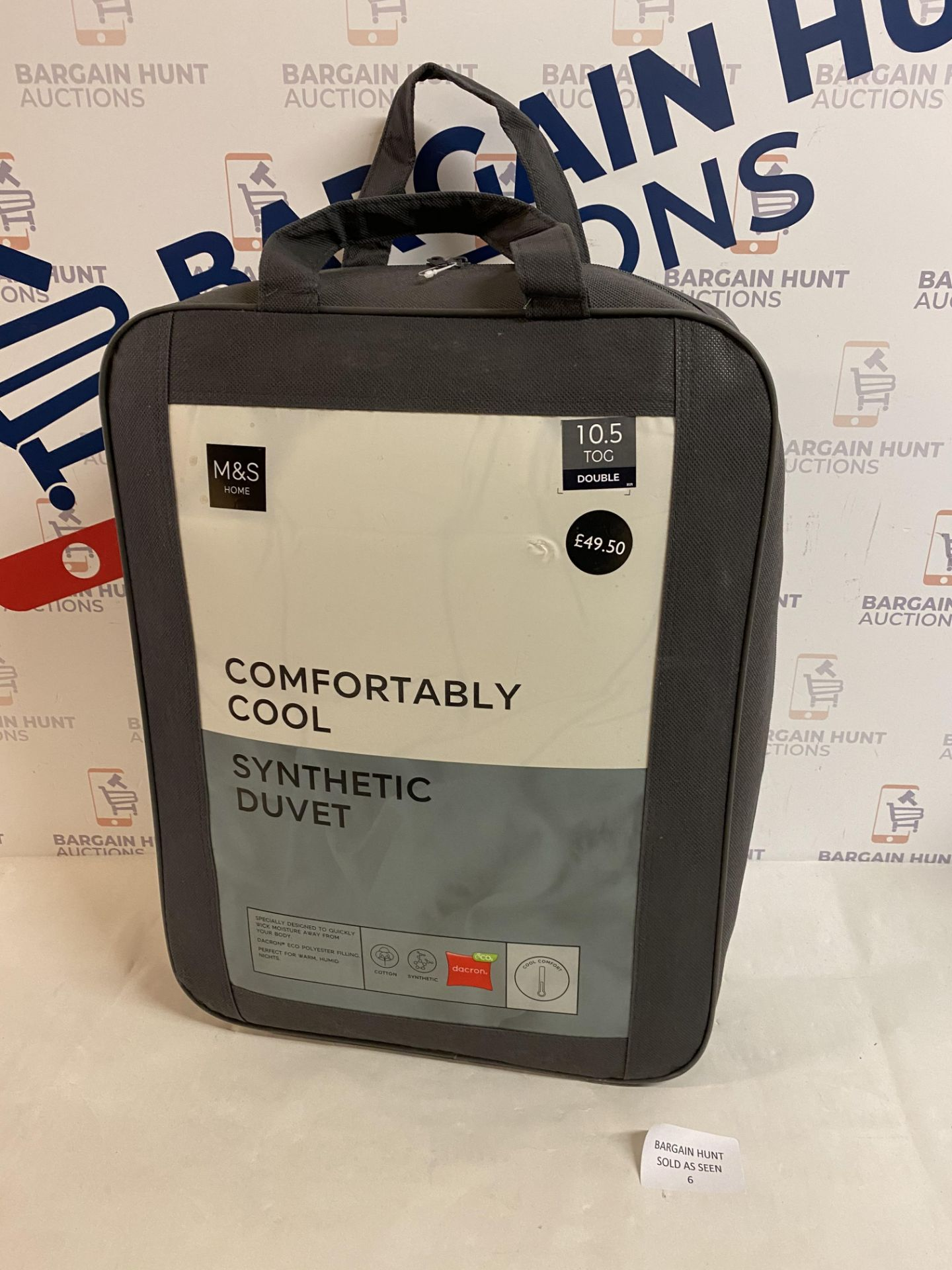 Comfortably Cool Synthetic 10.5 Tog Duvet, Double RRP £49.50